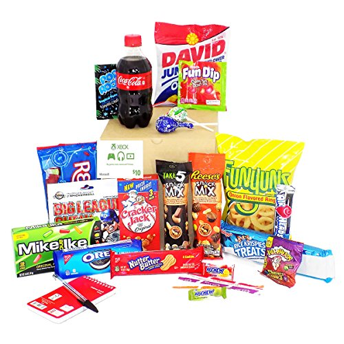 Video Gamer Gift Basket Care Package - For the Gamer in Your Life! (Xbox Points)