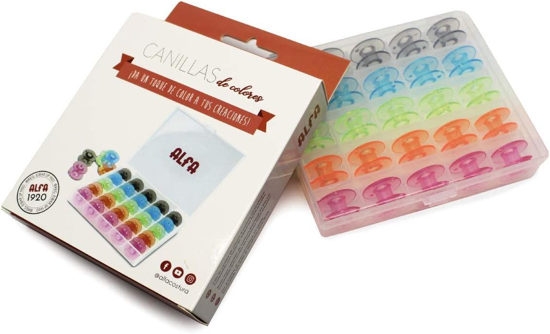 Alfa 6050-Caja 25 canillas Colores, Multicolor: Amazon.es: Hogar
