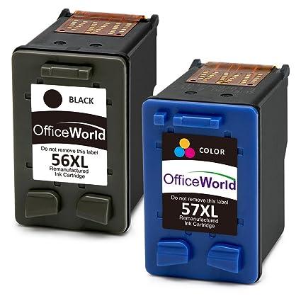 OfficeWorld 56 XL 57 XL Cartuchos de tinta Compatible HP 56 57 ...