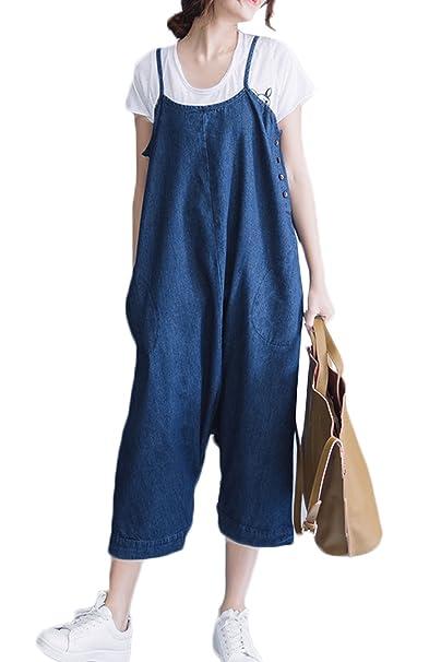Fanvans Mono De Embarazadas Maternidad Jeans Denim Pantalones Al Tobillo Overoles: Amazon.es: Ropa y accesorios