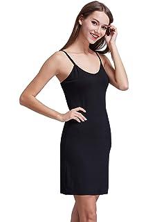 Coreal Women s Long Spaghetti Strap Cami Active Basic Camisole Slip Dress 63c89d4380b3