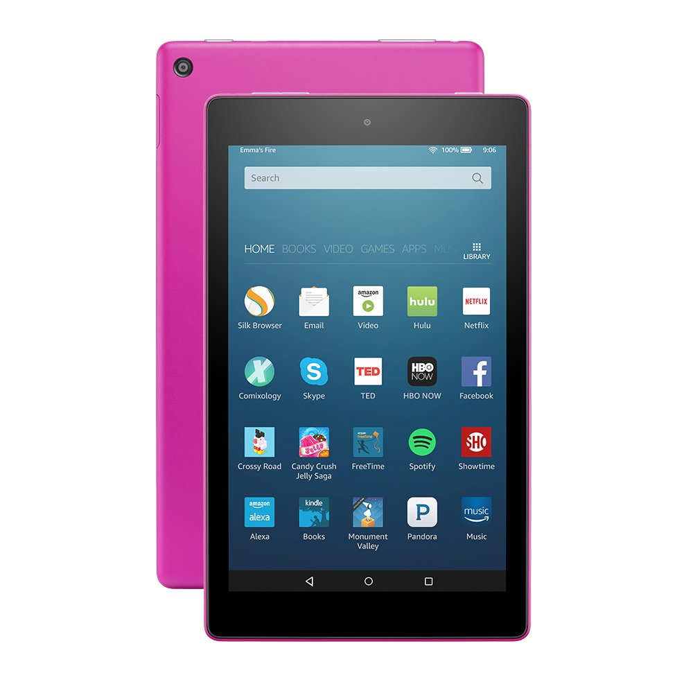 Fire HD 8 Tablet with Alexa, 8'' HD Display, 32 GB, Magenta - with Special Offers (Previous Generation - 6th) by Amazon