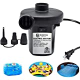 BOMPOW Electric Air Pump for Inflatables Air Mattress Pump Air Bed Pool Toy Raft Boat Quick Electric Air Pump Black (AC…