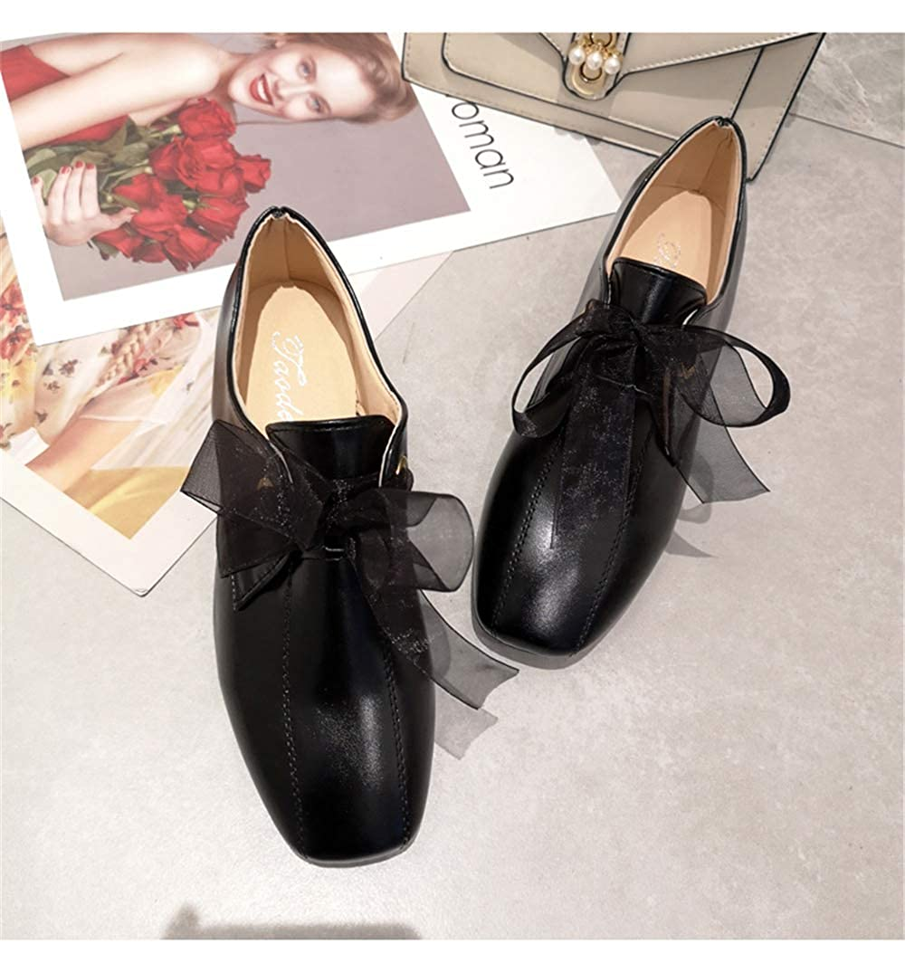 Women Low Heel Bow Pointed Toe Female Flats Flat Shoes Ballet Flats