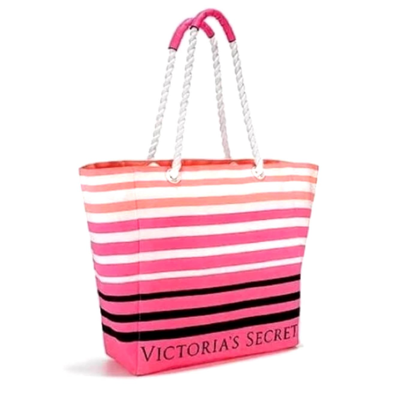 Victoria s Secret Limited Edition Summer Tote Beach Bag Rope Handle