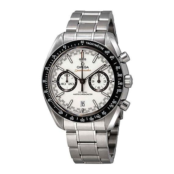 Omega Speedmaster Racing 329.30.44.51.04.001 - Reloj automático para hombre, esfera blanca