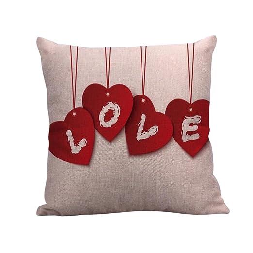 ronamick almohada San Valentín funda de cojín (45 x 45 cm ...