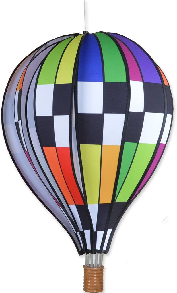 "Wind Spinner by Premier Designs 12/"" HOT AIR BALLOON-Classic Rainbow Design"