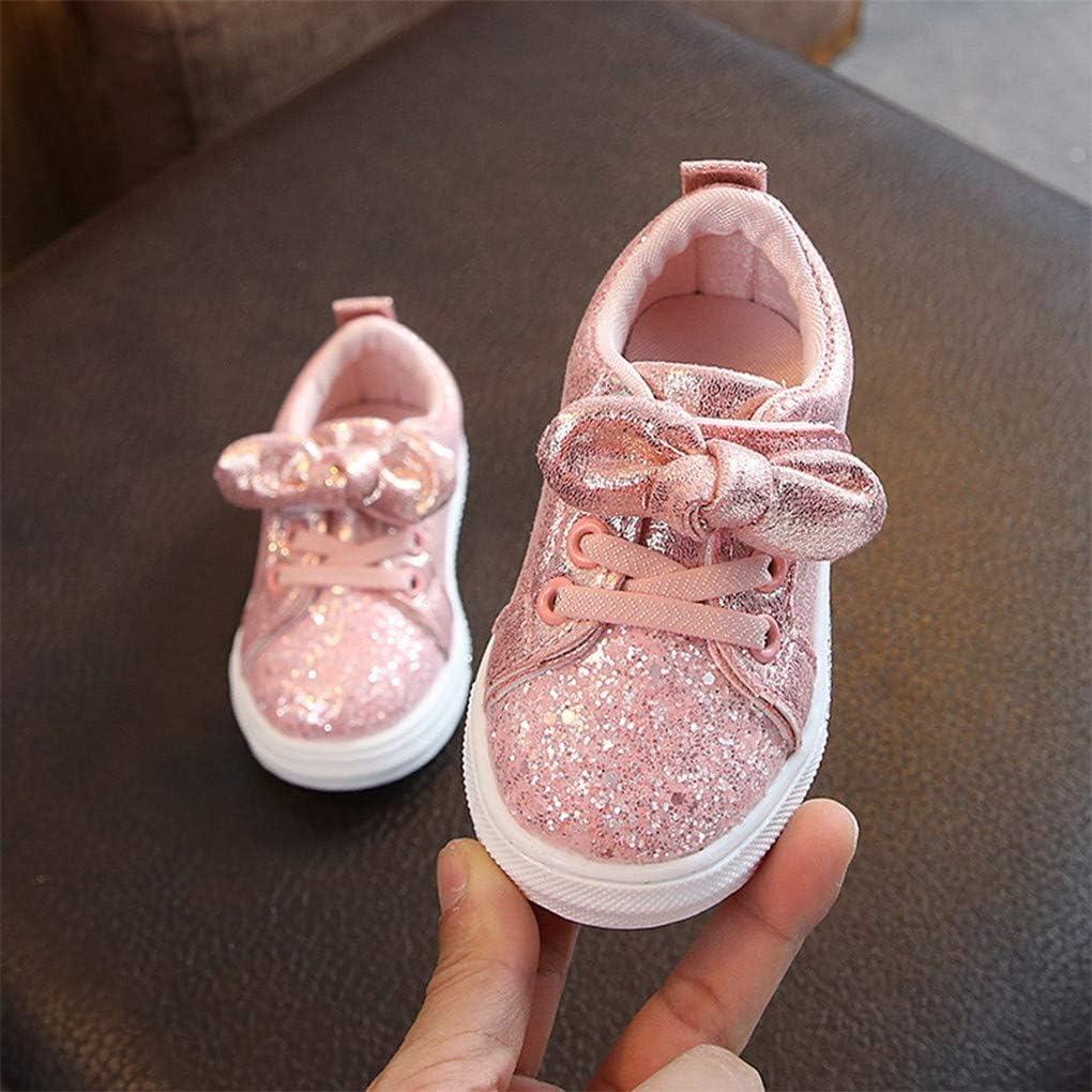 Unisex Baby Sneaker,Dorical Kinder Sommer Pailletten Bowknot Sportschuhe Jungen M/ädchen Freizeitschuhe Sneaker Lauflernschuhe Krabbelschuhe mit Weiche Sohle f/ür 1-6 Jahre