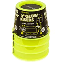 "Slipstick CB643 3"" Lift Glow in The Dark Bed Risers/Furniture Risers – Adds 3 inch Height for Under Bed Storage & Shows…"