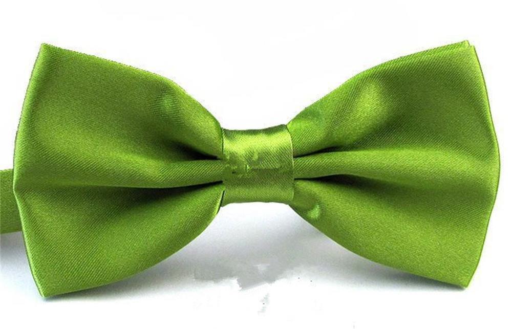 QYdress Men Bow Tie Adjustable Length wedding Male Fashion Boys Girls kids Women Satin One Size hui-282