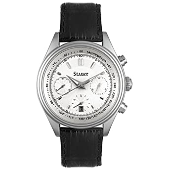 Stauer Mens Automatic Stainless Steel and Leather Casual Watch(Model: T2021)