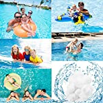 EKKONG-700g-Filtro-BallsFiltro-per-PiscinaFiltri-Balls-per-AcquarioSfere-per-Filtrazione-700g-sostituiscono-25kg-Sfere-filtranti-per-Piscine-Interne-ed-Esterne-Piscine-e-acquari-700g