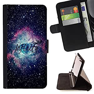 Cosmos Space Stars Astronomy - Painting Art Smile Face Style Design PU Leather Flip Stand Case Cover FOR Apple Iphone 6 PLUS 5.5 @ The Smurfs