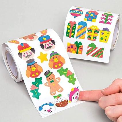 Baker Ross Christmas Sticker Rolls Pack Of 600 Value Pack For Kids Christmas Crafts