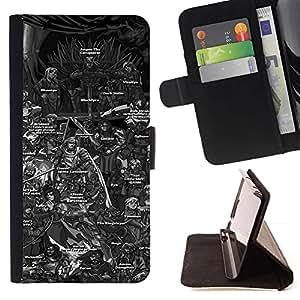 Momo Phone Case / Flip Funda de Cuero Case Cover - Tabla de caracteres Tronos Serie de dibujos animados;;;;;;;; - Sony Xperia M4 Aqua