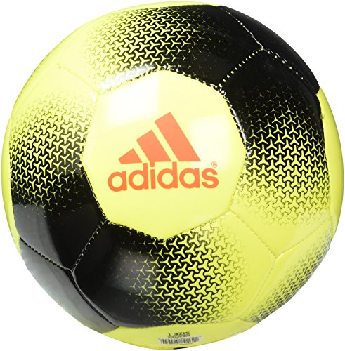 adidas Performance Ace Glider Soccer Ball, Solar Yellow/Black/Solar Red, Size 1