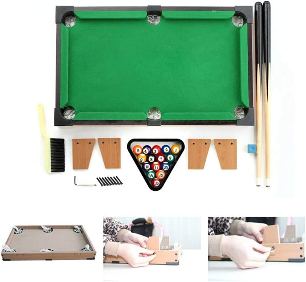Zgifts Mini Mesa Pool Set-Billar portátil Juego Snooker Mesa ...