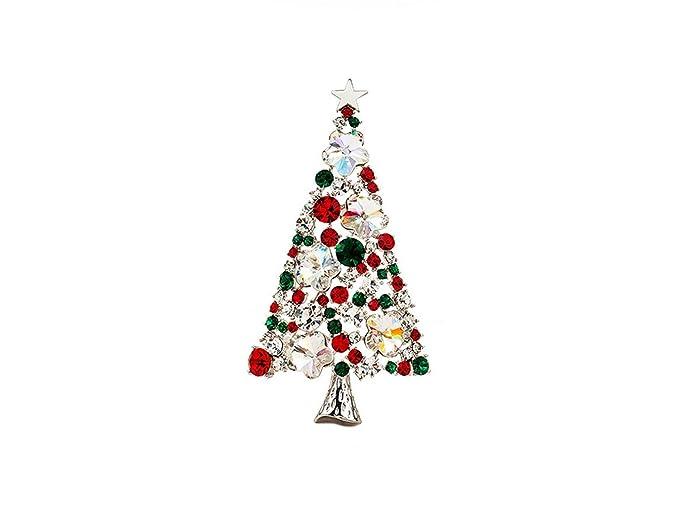 Hosaire Joyas broche ramillete de árbol de Navidad Linda forma del ...