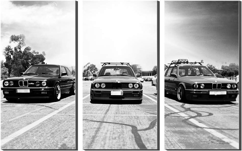 Karen Max Leinwand M5 E34 M3 E30 3 Serie 325i Auto Malerei Giclée-Drucke Modulare Kunstwerk 5 Stücke Bilder Wandkunst Einzigartige Poster (Kein…