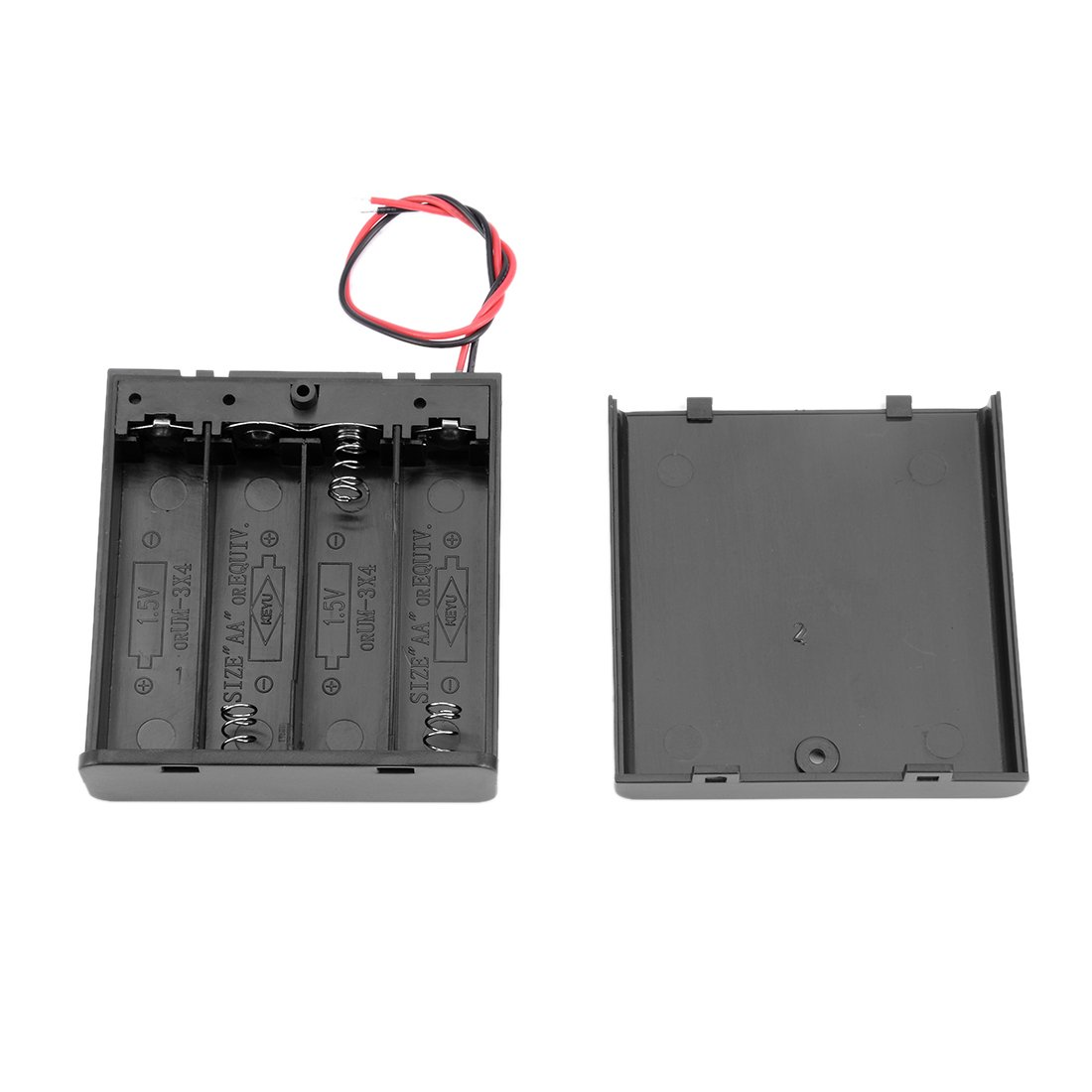 Saim Aa 6v Battery Holder Case Wired On Off Switch W Wiring Batteries In Series Cover Pack Of 2 Electronics