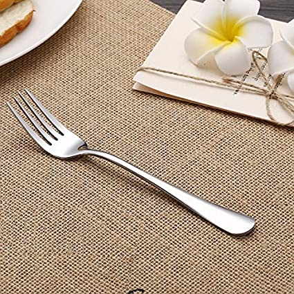 VANRA 2-Piece Children Flatware Set 18/10 Stainless Steel Child Set Tableware Set Silver Cutlery Set Silverware Dinner Utensils for Kids (Chrome ...