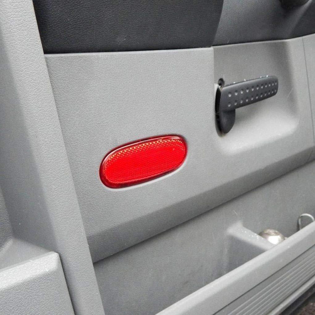 Topker Front Door Interior Panel Trim Reflector Red Replacement for Dodge Ram 1500 2500 3500 5179299AA