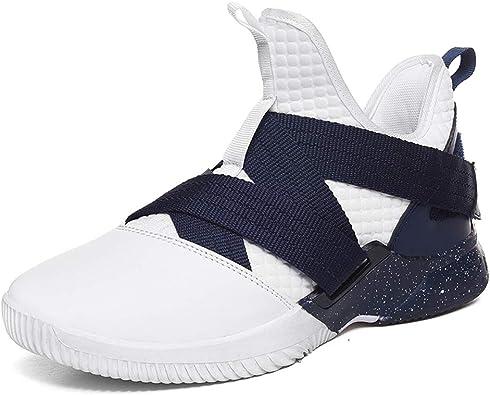 Zapatillas Deportivas Hombre Running Trail Zapatos para Correr Gimnasio Sneakers Fitness Transpirables Moda Al Aire Libre Blancas 42 EU: Amazon.es: Zapatos y complementos