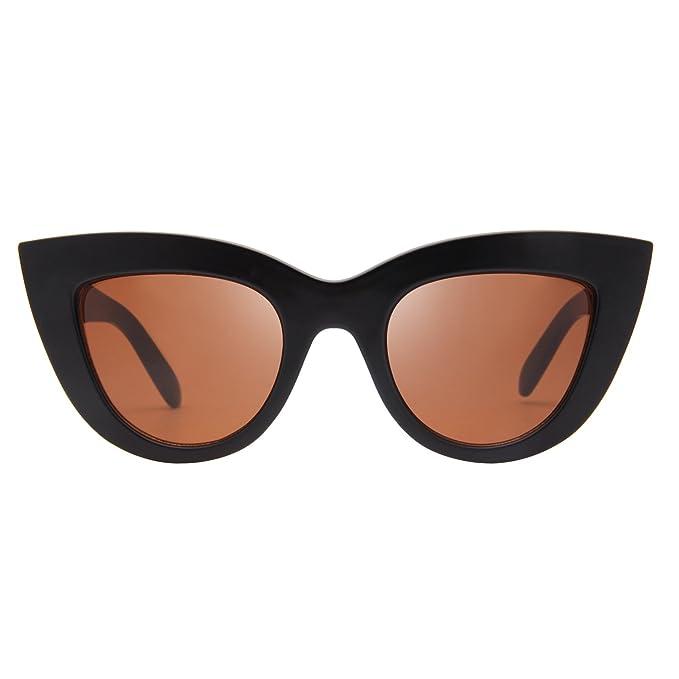 Amazon.com: Liansan Retro Mujeres anteojos de sol Moda de ...