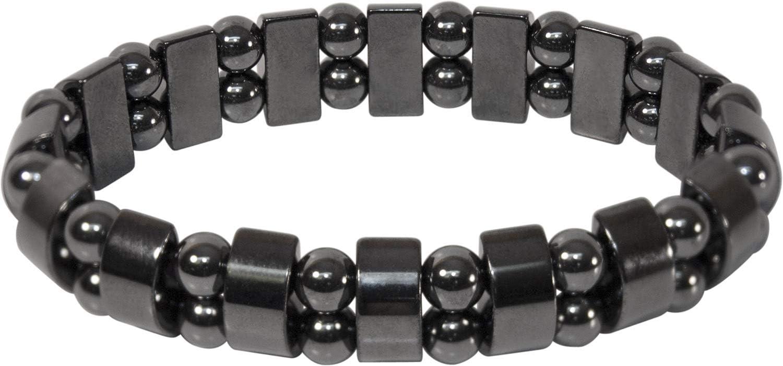 Double Hematite Metal Magnetic Bracelet