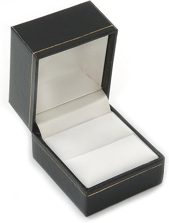 Avalaya - Caja para anillos de piel sintética (tamaño grande ...