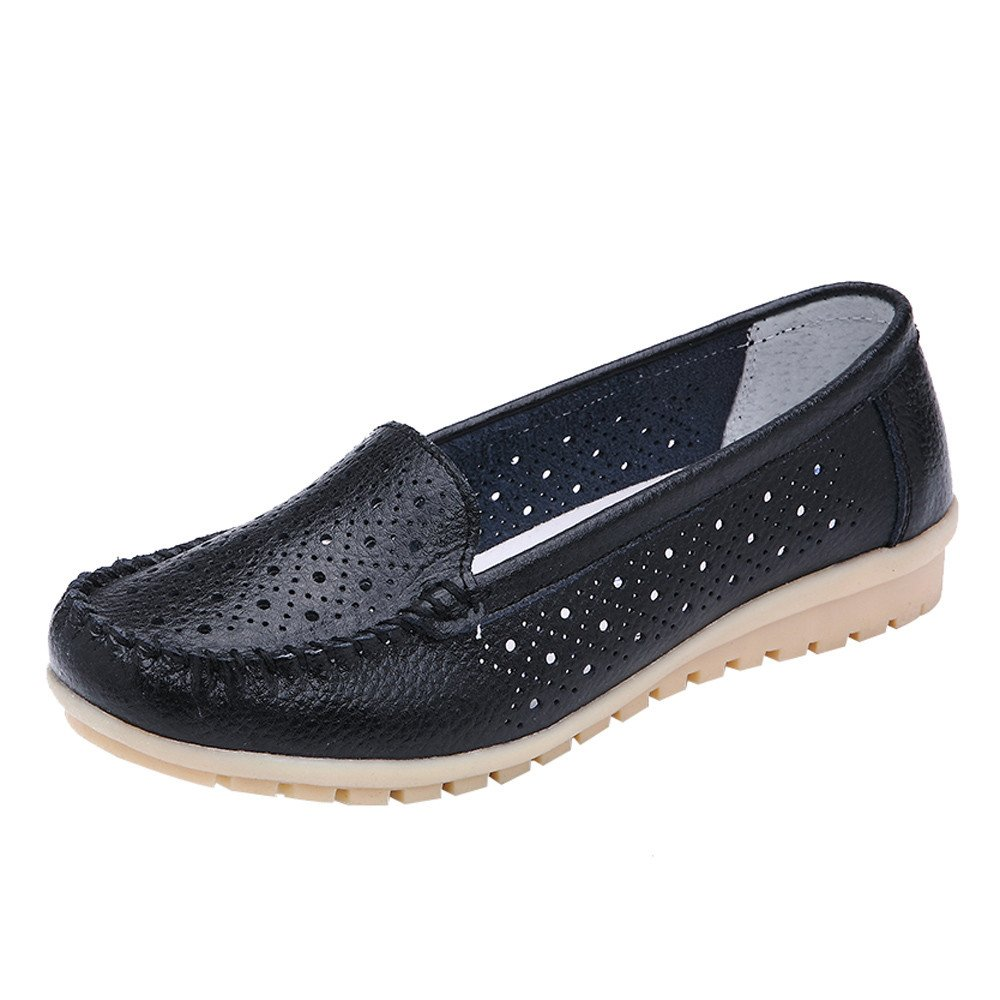 Loafers for Women Comfort,SMALLE◕‿◕ Women's Retro Slip-On Hollow Penny Loafers Shoes Dress Casual Driving Flat Shoes Black