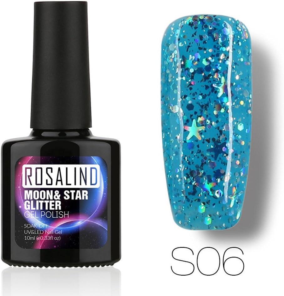 ❀ higlles LED UV Esmalte de uñas Gel, Gel con cambio de color, Gel con purpurina étoilées camaleón, de gel, gel de Jade magnético, 10 ml: Amazon.es: Belleza