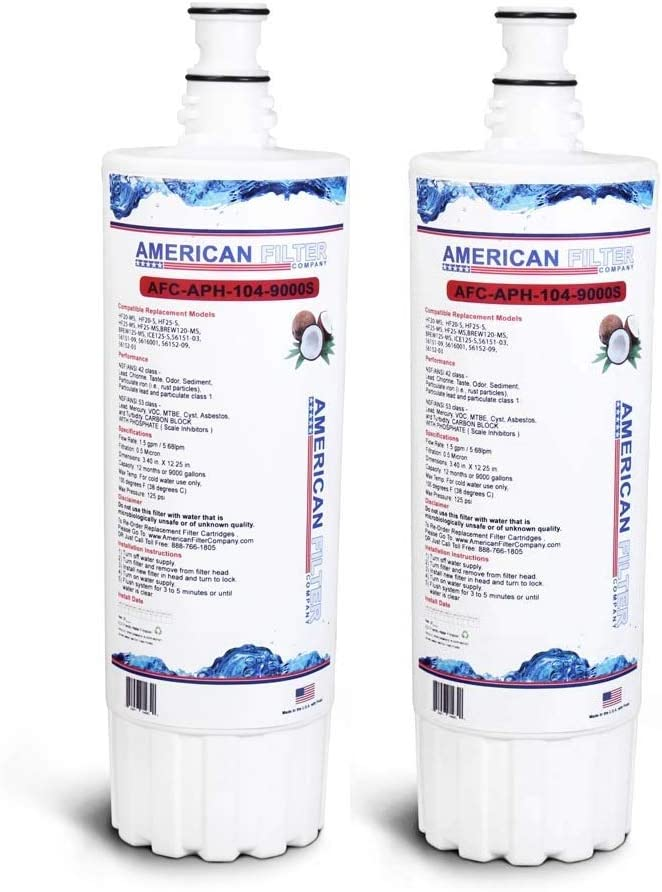 Comparable with Body Glove BG-3000 Water Filter Cartridge TM Brand Water Filter American Filter Company 2-Pack