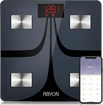 Amazon Com Abyon Bluetooth Smart Bathroom Scales For Body Weight Digital Body Fat Scale Auto Monitor Body Weight Fat Bmi Water Bmr Muscle Mass With Smartphone App Fitness Health Scale Health Personal Care
