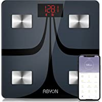 ABYON Bluetooth Smart Bathroom Scales for Body Weight Digital Body Fat Scale,Auto Monitor Body Weight,Fat,BMI,Water, BMR…