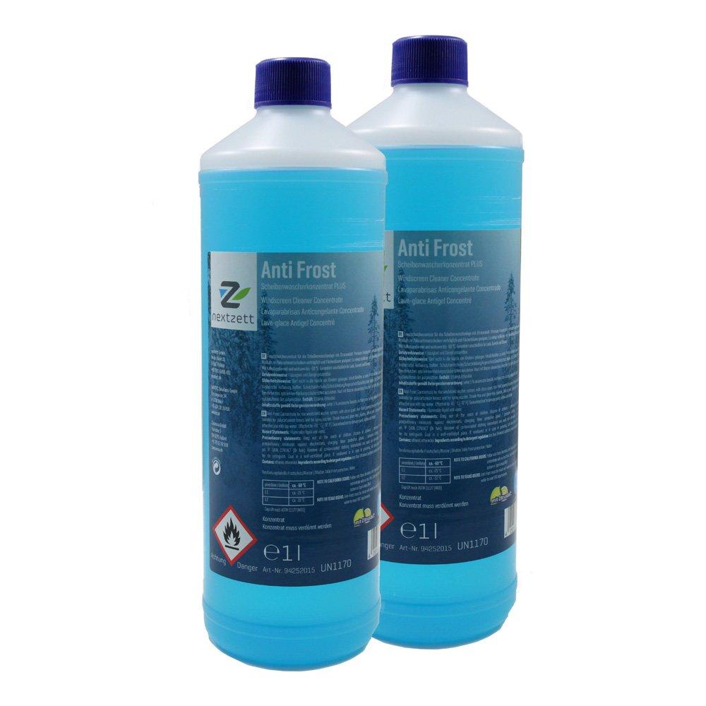 nextzett 9252115 Anti-Frost Winter Windshield Washer Fluid Concentrate, 33.8 fl. oz, 2 Pack