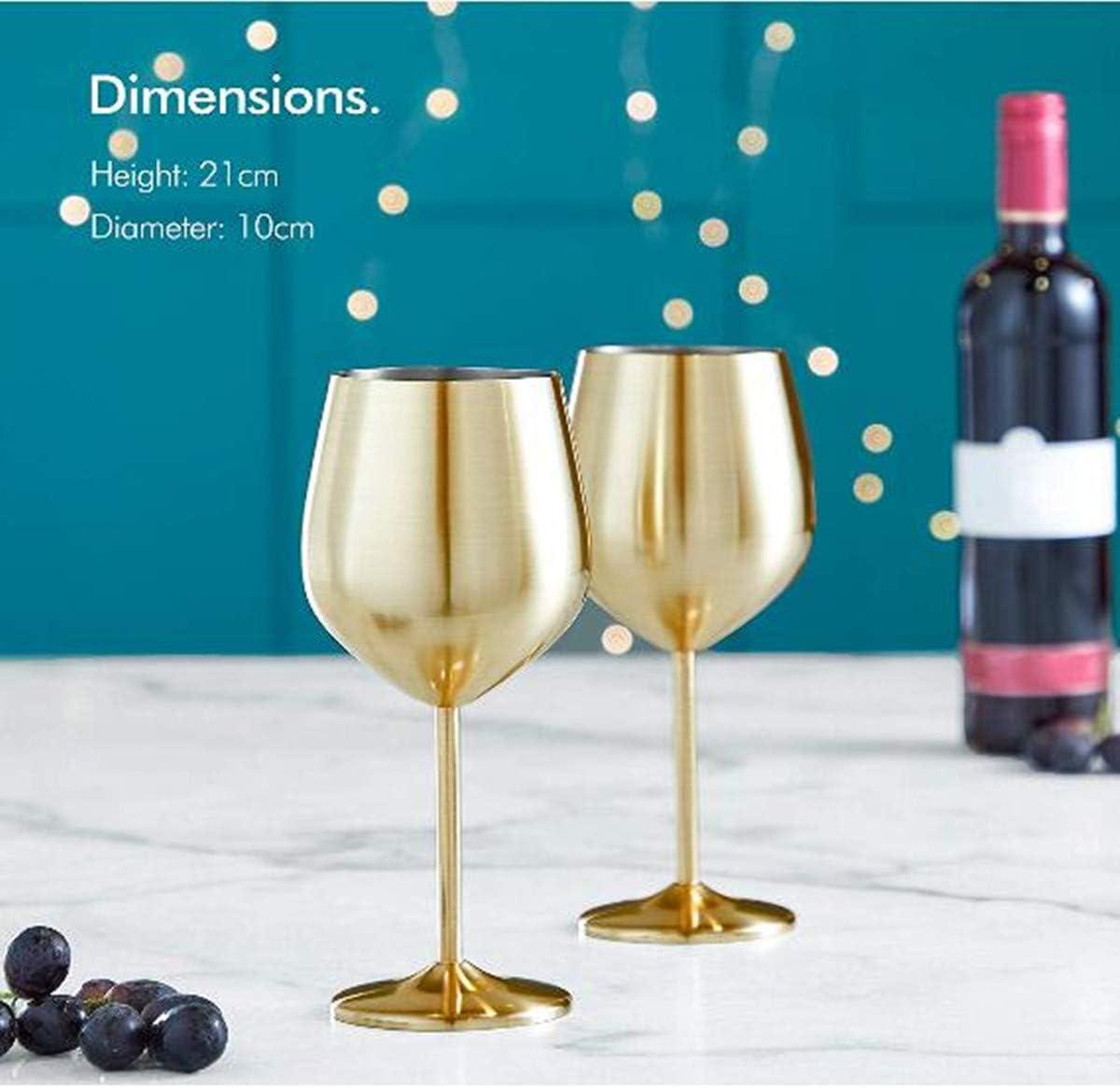 Lot de 2 tasses /à champagne en acier inoxydable 500 ml 500ML argent/é