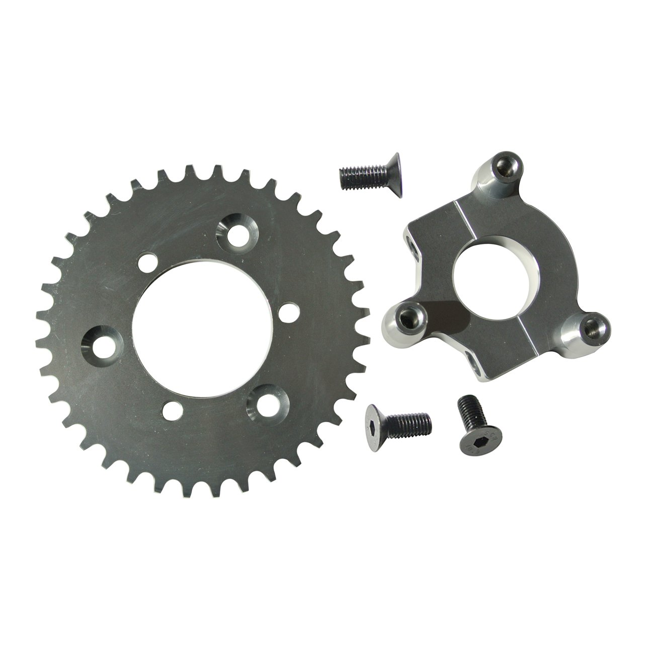 sthus CNC Silver 36T Sprocket with 1.5 Adapter Fits 60cc 66cc 80cc Motorized Bicycle
