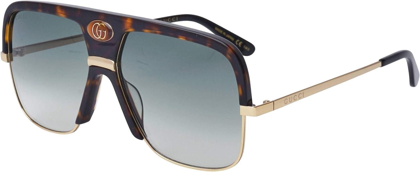 7ff415f86c Amazon.com  Sunglasses Gucci GG 0478 S- 002 HAVANA GREEN GOLD  Clothing