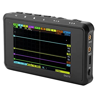 Mini Oscilloscope DS213 Portable Handheld Mini 4 Channels