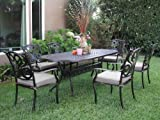 Cheap CBM Outdoor Cast Aluminum Patio Furniture 7 Pcs Dining Set G1 CBM1290