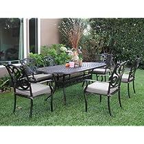 CBM Outdoor Cast Aluminum Patio Furniture 7 Pcs Dining Set G1 CBM1290