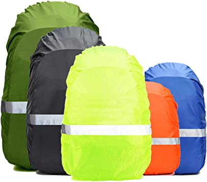 Frelaxy Hi-Visibility Backpack Cover with Reflective Strip 100/% Waterproof Ultralight Backpack Rain Cover Biking Tralving for Hiking Anti-Slip Cross Buckle Strap Camping Outdoor