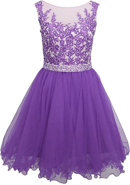 Amazon.com: Ellames Short Homecoming Dress for Juniors Plus ...
