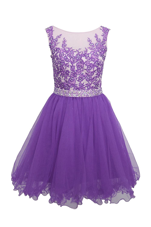 Amazon.com: Ellames Short Homecoming Dress for Juniors Plus ...