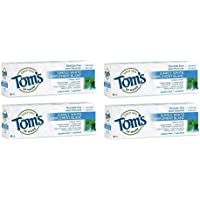 Tom's of Maine Simply White Fluoride-Free Natural Toothpaste Peppermint - 85 mL, Pack of 4
