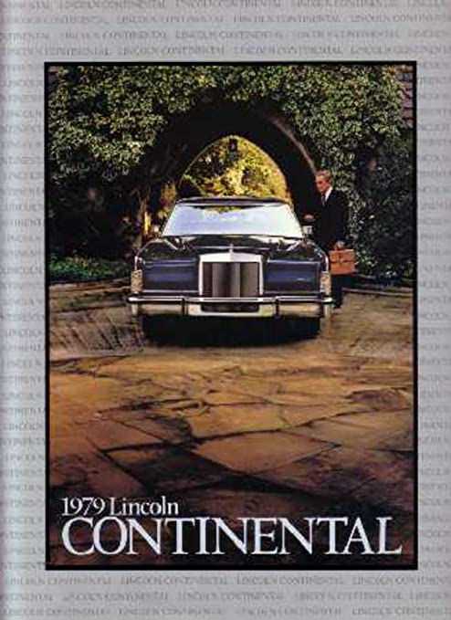 Amazon com: 1979 Lincoln Continental Sales Brochure