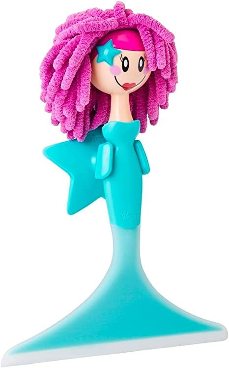 VIGAR Dolls Limpia mamparas, Material: PVC Friendly, ABS, Microfibra, TPR, Azul, 18.5 X 6 X 26 Cm: Amazon.es: Hogar