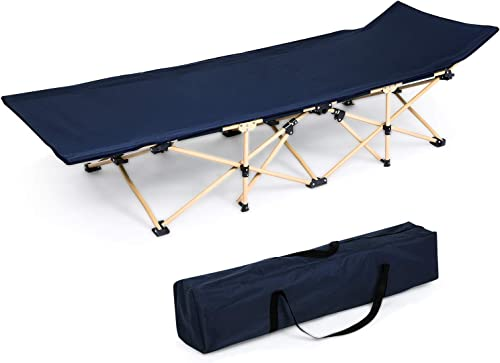 OUTCAMER Folding Bed Cot Sleeping, Portable Cot Camping with Carry Bag for Indoor Outdoor Use